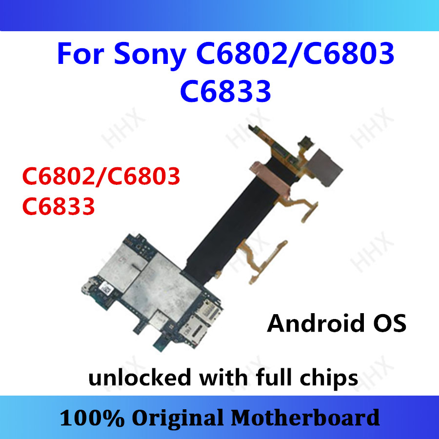 Original For Sony Xperia Z Ultra Xl39h C6802/C6803 C6833 Motherboard Android Plate C6802/C6803 C6833 Card/fee Unlocked Mainboard