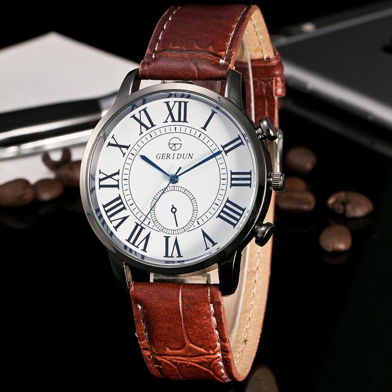 2017 relogio masculino fashion military watch men luxury brand roman numerals quartz wrist watch