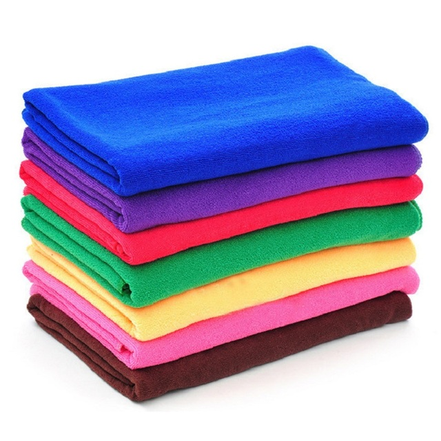 Red Microfiber Bath Towels: 5PC/LOT Microfiber Towels 30*70cm Hand Towel Solid Coffee