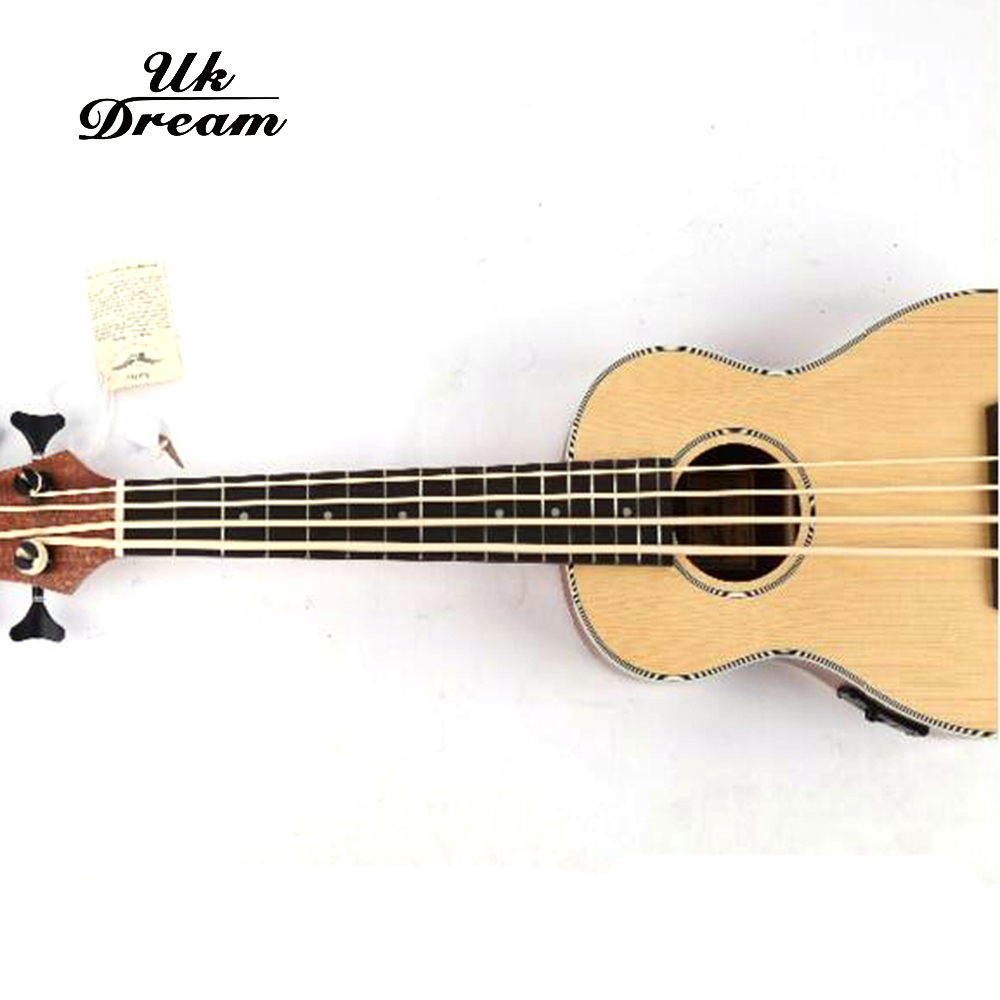 Купить с кэшбэком 30 inch Guitarra Electrica Mini Guitar Musical Instruments Professional Spruce Sapele U Bass Ukulele Small Guitar UB-513