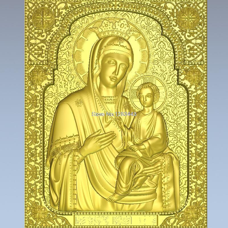 High quality 3d model relief  for cnc or 3D printers in STL file Ikona_0005_ikona_bojiei_materi_skoroposlushnitsa martyrs faith hope and love and their mother sophia 3d model relief figure stl format religion for cnc in stl file format