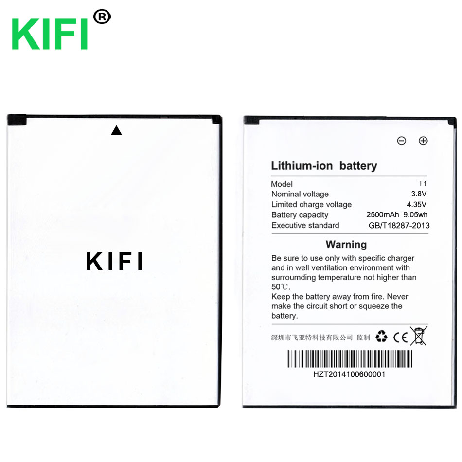 KIFI 100% QC PASS 2500mAh Mobile Phone Batteries For Takee1 T1 Takee 1 Battery