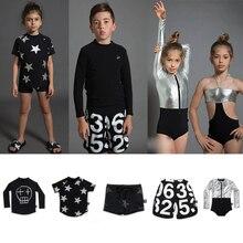 NUNUNU/Коллекция 2019 года, одежда для плавания для мальчиков и девочек, футболка с принтом черепа и звезд, шорты для серфинга, комплект купальных костюмов для маленьких девочек, детская футболка