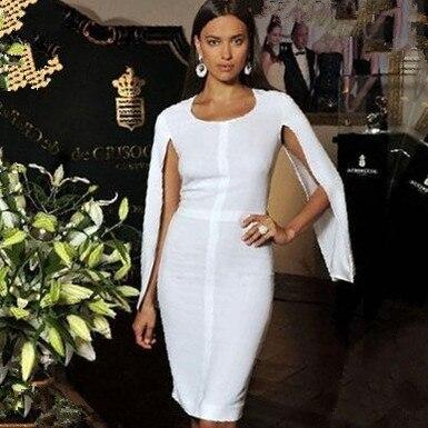 Top qualität promi weiß langen mantel ärmel rayon mantel bandage ...