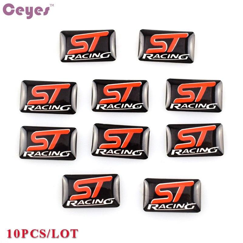 自動車スタイリング小さな装飾ステアリングホイールフォード ST フォーカスモンデオアクセサリーエンブレムステッカーカースタイリング 10 個