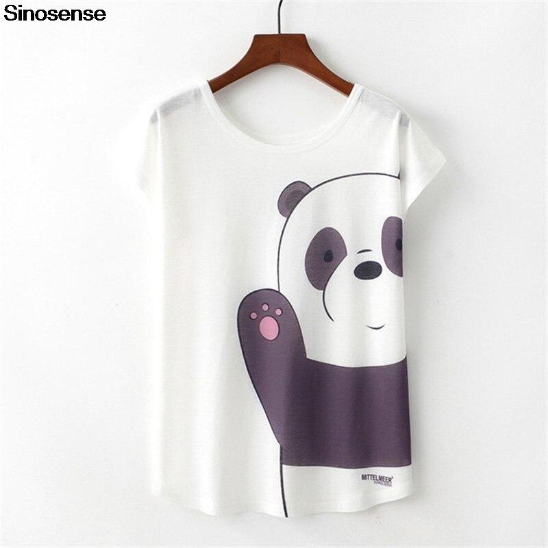 New Harajuku Panda Printed Women Tshirt Casual Tees Tops Summer Short Sleeve Female T Shirt Women Clothing 2019 Cotton T-shirts