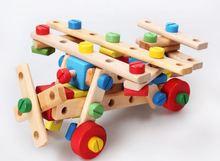 Montessori Bébé Enfants Jouets En Bois Modèle Kits de Construction Écrou-combinaison D'apprentissage Éducation Préscolaire Formation Brinquedos Juguets