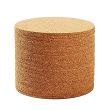 Set of 10 Cork Bar Drink Coasters - Absorbent and Reusable 90mm, 5mm Thick