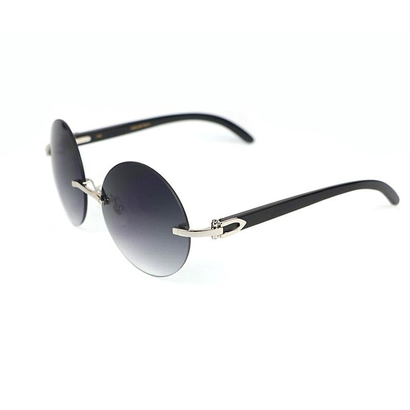 Mode Ronde Nuances Buffao Corne lunettes de Soleil Hommes De Luxe Bois Lunettes de Soleil Cadre pour Club et Conduite Oculos Lunettes Lunettes 012R