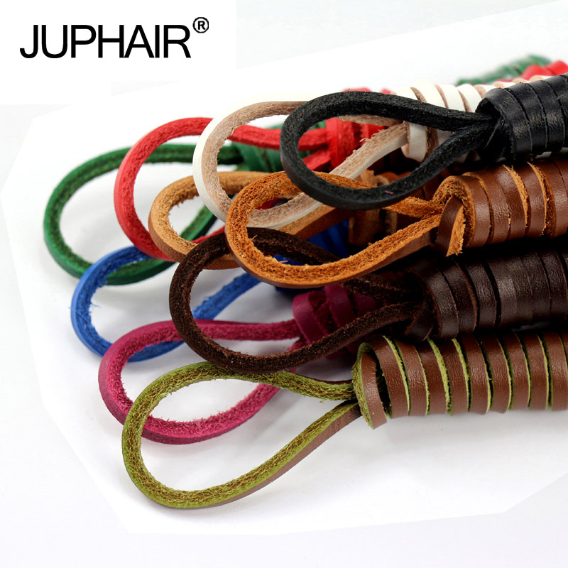 JUP 1 Pair Genuine Cowhide Square Shoelaces Boat Doug Shoes Shoelaces Retro Leather Boots Shoestring You can order any length