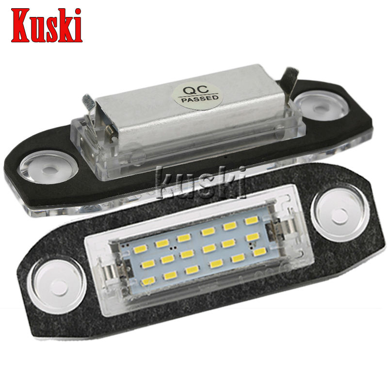 2Pcs LED Number License Plate Light 12V White SMD LED Canbus Lamp Bulb Car Styling For Volvo S80 XC90 S40 V60 XC60 S60 V70 C70 2pcs led number license plate light 12v white smd led canbus lamp bulb car styling for opel astra g corsa a b vectra b tigra