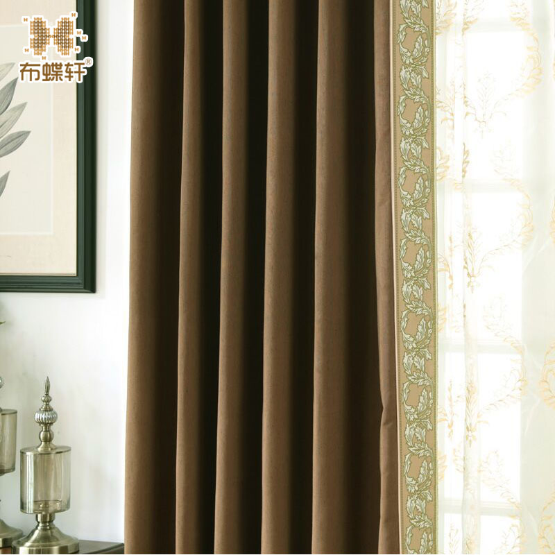 Dua Warna Cahaya memblokir Kebisingan Mengurangi Tirai Modern Gaya - Tekstil rumah