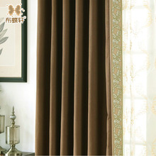 two colors light blocking noise reducing curtain modern style thermal insulated blackout linen curtains for bedroom