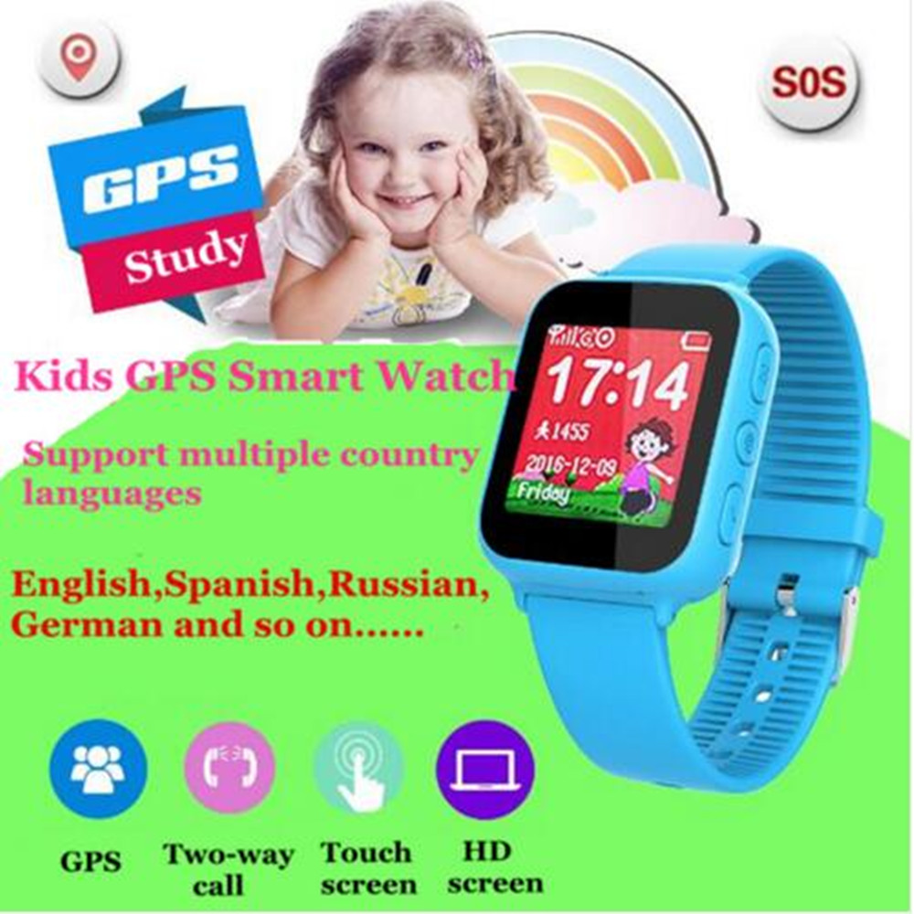 GPS kids smart watch with early learning 1.44 inch touch screen Wifi baby clock SOS Location Call Tracker for Kid Safe PkQ90 V7k