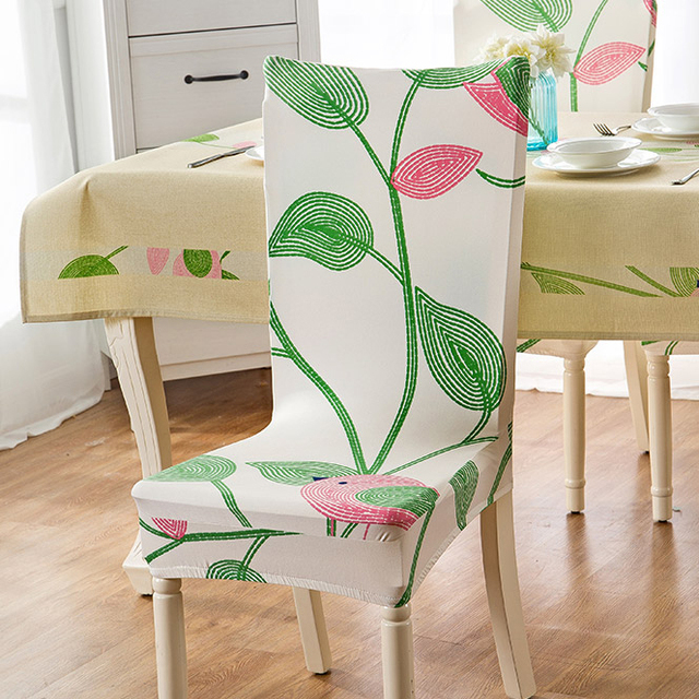 Stretch Printing Floral Chair Cover Stretch Modern Seat Chair Covers  Elastic Slipcover Banquet Hotel Dining Home