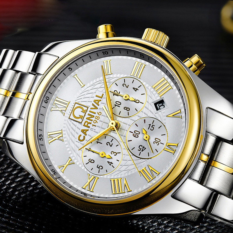 Luxury  watch men Sapphire glass stainless steel Date Week  Automatic machine watch whitedial relogio masculino имп имп 580 256x16 r er1