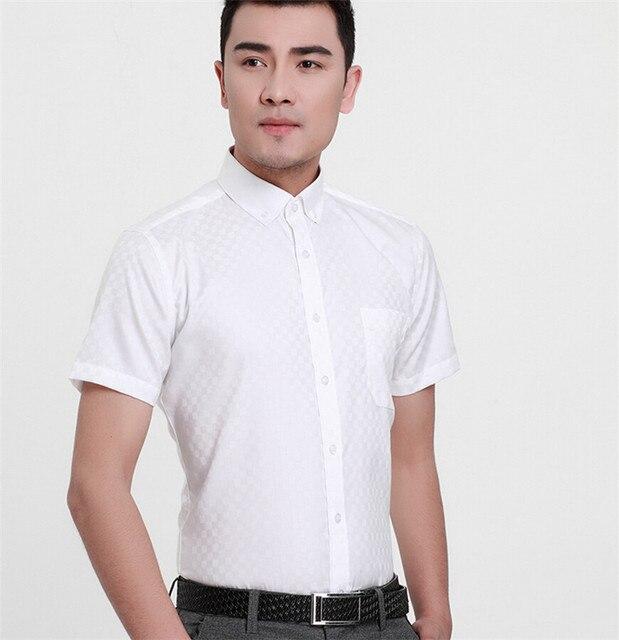 Высокое Качество Мужчины Бизнес Платье Бренда 100% хлопок полосой короткий рукав рубашки MCX901-4 XS-XXXL