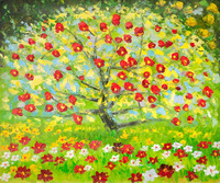 Cheap Decoration Oil Painting The Apple Tree By Gustav Klimt Tree Painting On Canvas Replicas Free