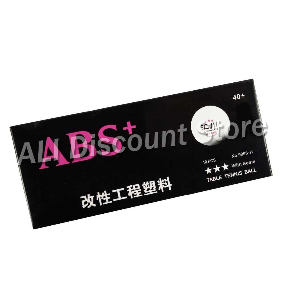 10x HUICHUAN ABS+ New Material Plastic 40+ Table Tennis Balls