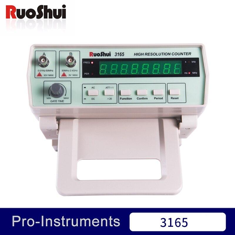 3165 Victor RuoShui Contatore di Frequenza Highe Risoluzione Misuratore Da Banco 0.01Hz ~ 50MHz Contatore di Frequenza 50MHz ~ 2.4GHz