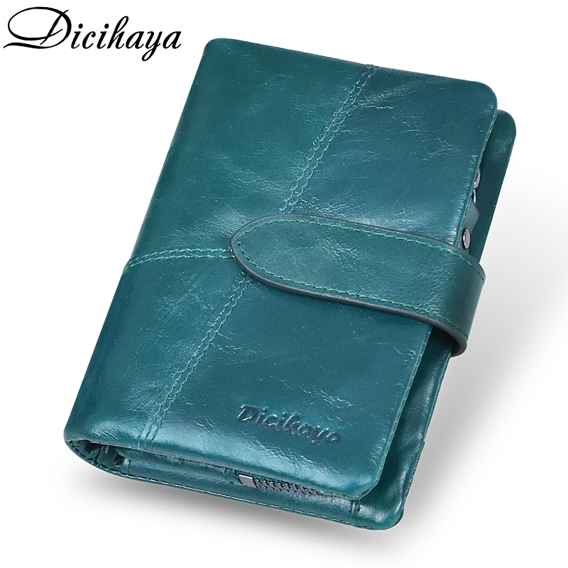 DICIHAYA Women Wallets Small Fashion Brand Genuine Leather Purse Women Ladies Card Bag For Women Female Purse Money Clip Wallet
