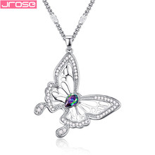 JROSE New 2019 Fashion Wedding  Animal Pendant & Necklace Chain For Women Lovely Colorful Rhinestone Statement Jewelry