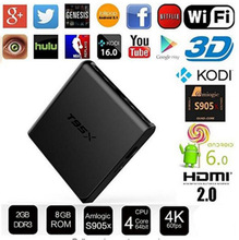 10 pcs T95X i8 rétro-éclairé en option android tv box 1g 8g/2G 8G/2G 16G Amlogic S905X Quad Core Android 6.0 TV Box avec 4 K * 2 K Kdi 16.1