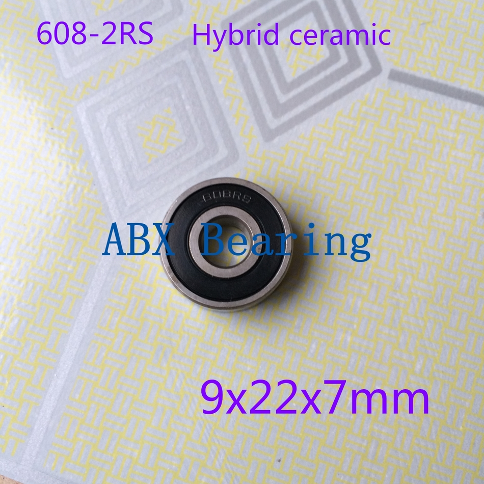 No standard 608-2RS 608 608RS 9x22x7mm hybrid ceramic deep groove ball bearing 9*22*7mm 9x22x7 10pcs 608 2rs 608rs 608 2rs abec 9 8mm x 22mm x 7mm red double rubber sealing cover deep groove ball bearing 1733 10