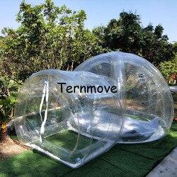 Nadmuchiwany trawnik namiot kempingowy ze wsparciem  żywy odkryty wodoodporny promocja gwiazda namiot baldachim bubble hotel dom na wynajem