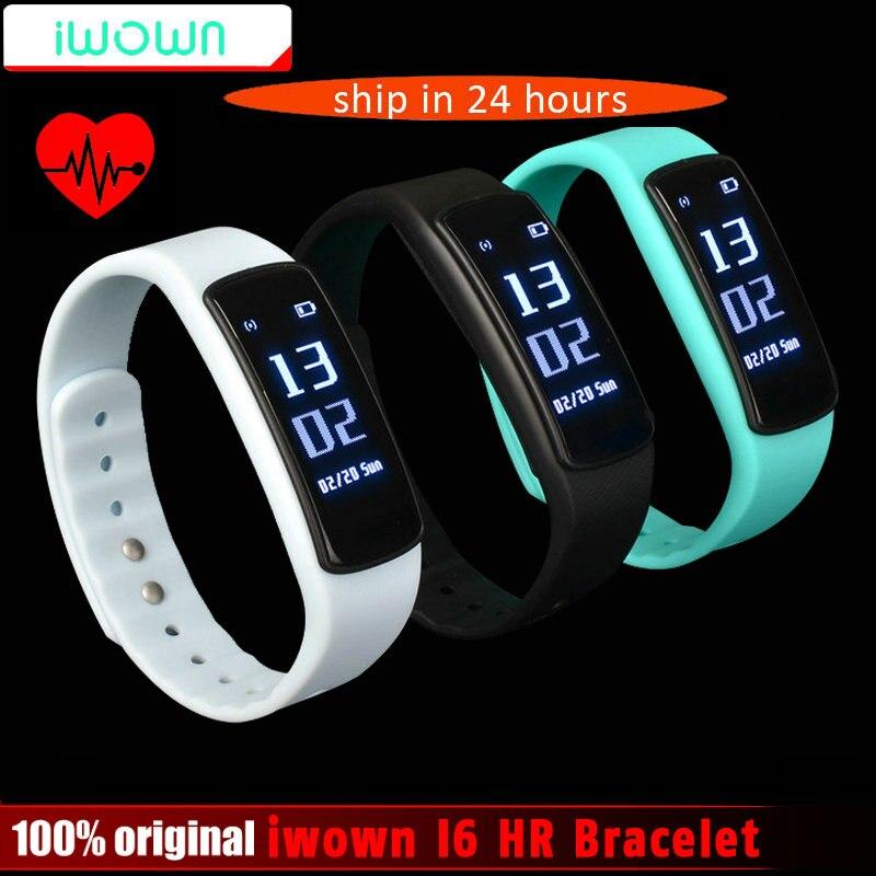 imágenes para IWOWN I6 Smartband HR Pulsómetro Inteligente pulsera Deporte Banda de pulsera Bluetooth 4.0 Inteligente Rastreador de Ejercicios VS Mi Banda 1 S