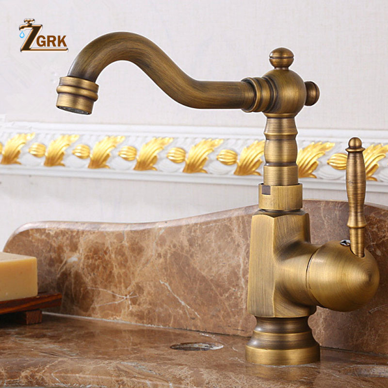 ZGRK Basin Sink Faucet Water Mixer Water Tap Bath Faucet Brass Bathroom Mixer Tap Wash Basin