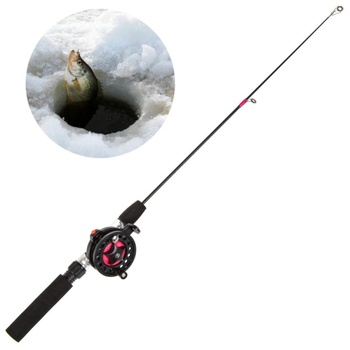 Portable Fishing Rods for Ice Fishing in winter with 2 Telescopic Section and Guide Ring