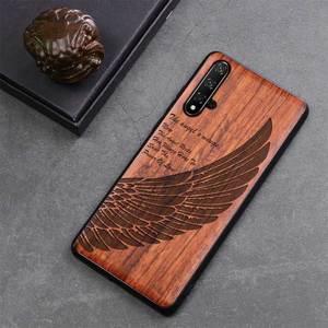 Image 5 - Onur 20 Case Boogic Orijinal Gerçek Ahşap funda Huawei Onur 20 Pro Gülağacı TPU Darbeye arka kapak Telefonu Kabuk Honor20 kılıfı