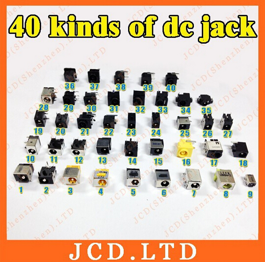 for Lenovo Toshiba Samsung DELL ASUS SONY Tongfang ACER New commonly Laptop DC power jack connector (40 models, 80 pcs) toshiba samsung storage technology ts h552 купить