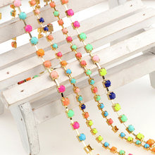 10yard Roll SS12 SS16 Jelly Rhinestone Chain DIY Sew On Gold BaseTrim Strass  Crystal Cup Chains For Dress 0a1c7e8a4eec