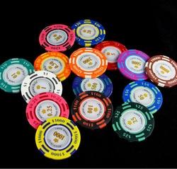 25 teile/los Monte Carlo Poker Chips in Ton 14g Blatt Eisen Aufkleber Casino Zimmer Jetton Poker player liebe es