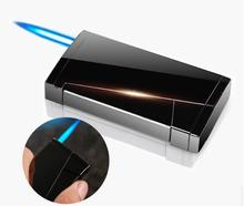 Windproof Gas Inflatable Cigarette Lighter Brand Luxury Metal Butane Lighter Creative Flame Refillable Encendedor Gift Business