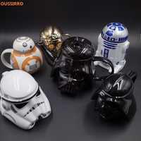 OUSSIRRRO Star Wars tasse en céramique R2D2 BB dark vador 3D tasse à café et boisson haute température fabrication porcelaine