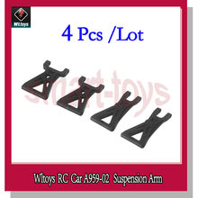 4 Stks A959 Suspension Arm Set Originele A959-02 voor Wltoys A959 RC Auto Onderdelen(China)