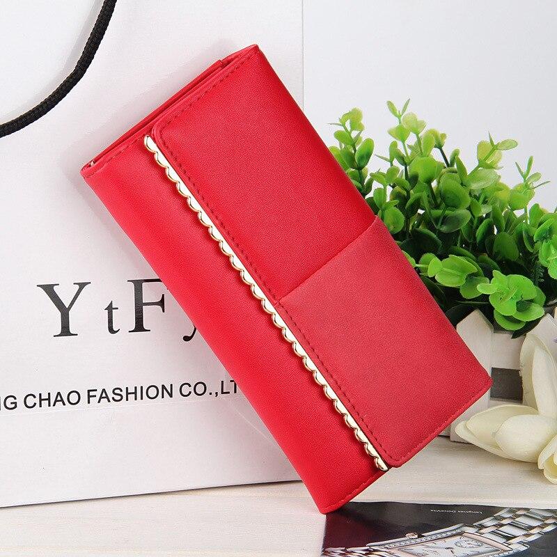 Ladies Women Wallets PU Leather Purses Long Wallet Women Elegant Female Red Women's Wallets Woman Leather Wallet Purse NS618 just star women s leather wallets ladies