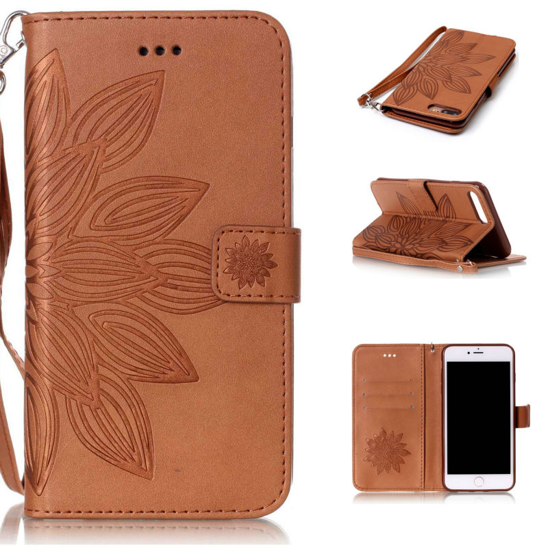 Book Style Wallet PU Leather Cover Case For iPhone 5S SE 6 6S 7 Plus LG K7 LS775 Sony Xperia XA X Performance ZTE Zmax Pro Z981