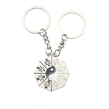 цена на Fashion Personality Yin Yang Taiji Keychain China Gossip Couple BFF Keychain Best Friend Keychain Holder Christmas Jewelry Gift
