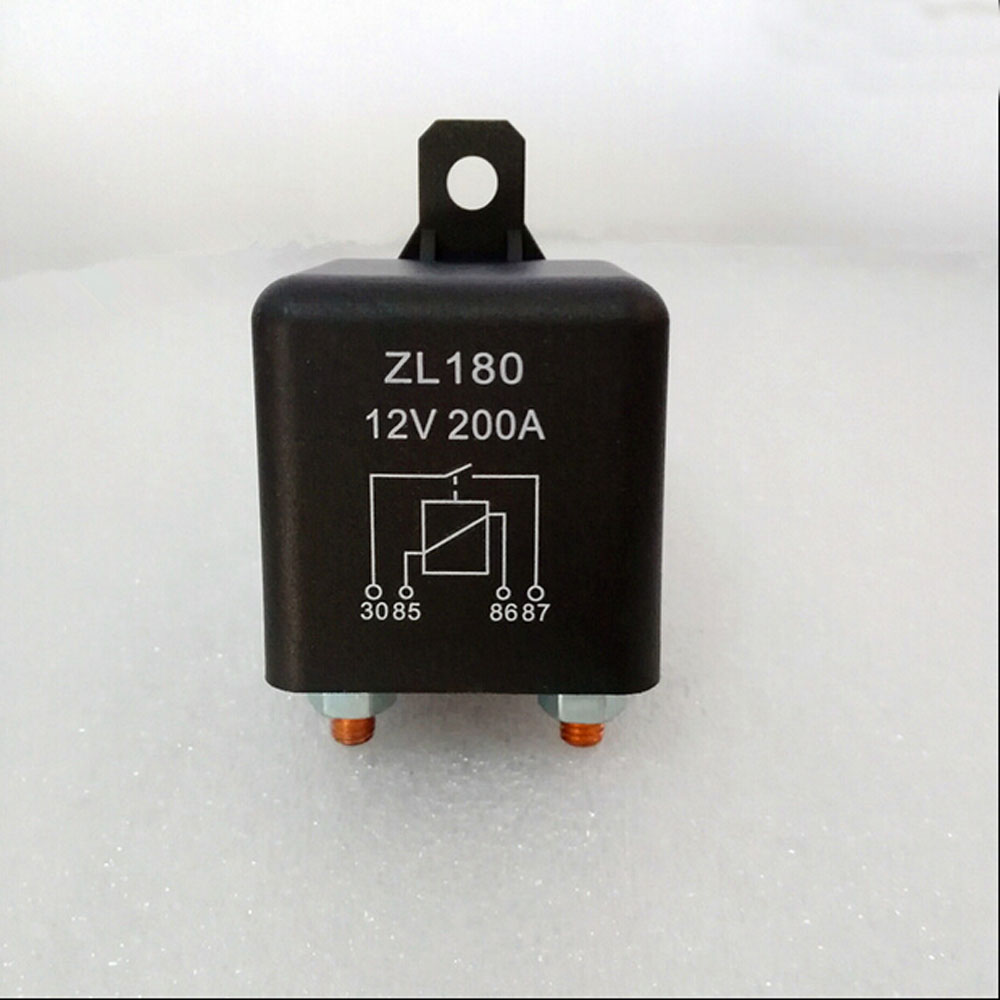 Automobile relay ZL180 normally open electromagnetic current 200 A DC12V 4 pin Auto starter relay normally open single phase solid state relay ssr mgr 1 d48120 120a control dc ac 24 480v