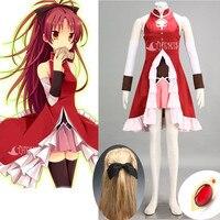 Athemis Puella Magi Madoka Magica Miki Sayaka Cosplay Costume Leather Dress Gloves Custom Made Any Size