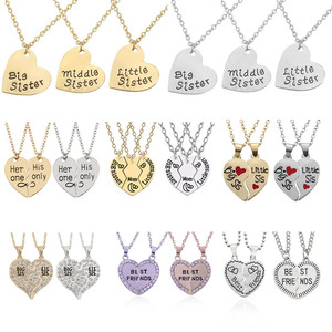 Dropshipping Broken Heart Pendant Necklace Best Friends Forever Splicing Friendship Necklace Puzzle Choker For Women Girls Gift