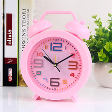 alarm clock creative lovely silent bedside bedroom childrens Mini personal multi-function clocks