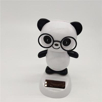 Новинка Солнечная игрушка ed танцующий откидной клапан качающийся головой игрушки для детей солнечная игрушка энергия фигурка игрушки - Цвет: Panda