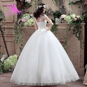 Image 5 - AIJINGYU 2021 아름다운 새로운 뜨거운 판매 싼 볼 가운 레이스 공식적인 신부 드레스 웨딩 드레스 WK316