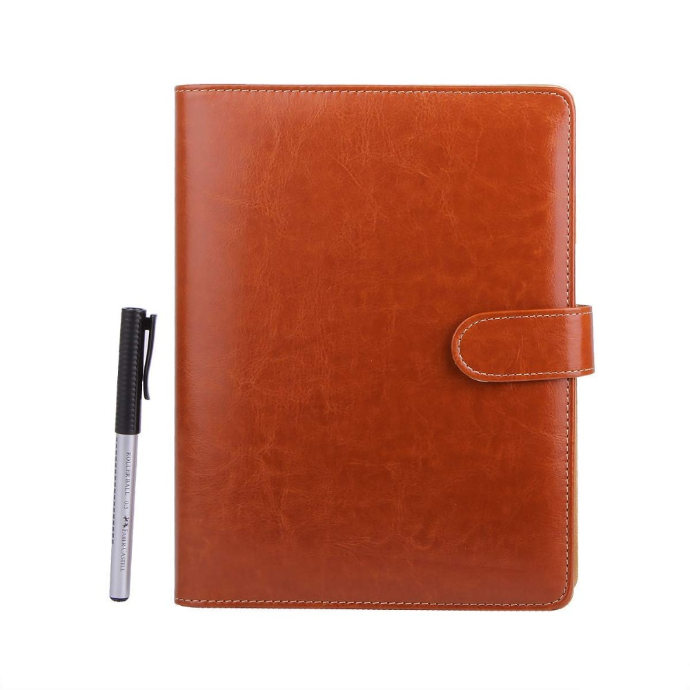 A5 Leather Notebook Refillable Loose Leaf Business Notebook Conference Folder Travel Dairy Notebook 200 Pages north european style retro minimalist modern industrial wood desk lamp bedroom study desk lamp bedside lamp