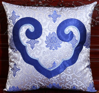 Luxury Heart Natural Silk Pillowcase Mulberry Sofa Chair Cover Cushion Decorative High End Christmas Love Pillow Cover